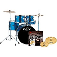 Pdp Z5 5-Piece Drumset With Meinl Cymbals Aqua Blue