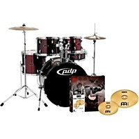 Pdp Z5 5-Piece Drumset With Meinl Cymbals Black Cherry