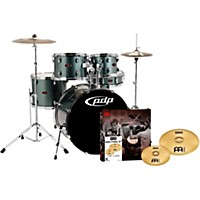Pdp Z5 5-Piece Drumset With Meinl Cymbals Gray Metal