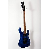 Used Jackson Slatxsd 3-7 Quilted Maple Top 7-String Electric Guitar Transparent Blue 888365826677