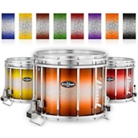 Pearl Championship Carboncore Varsity Ffx Marching Snare Drum Burst Finish 14 X 12 In. Black Silver #368