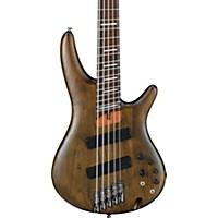 Ibanez Srff805 Multi-Scale 5-String Electric Bass Guitar Flat Walnut Rosewood