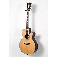 Used D'angelico Mercer Grand Auditorium Cutaway Acoustic-Electric Guitar Natural 190839037916