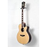 Used D'angelico Gramercy Sitka Grand Auditorium Cutaway Acoustic-Electric Guitar Natural 190839045188