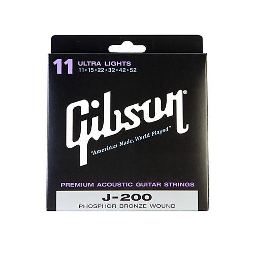 Gibson J200UL Deluxe Phosphor Bronze Ultra Light Acoustic Guitar Strings