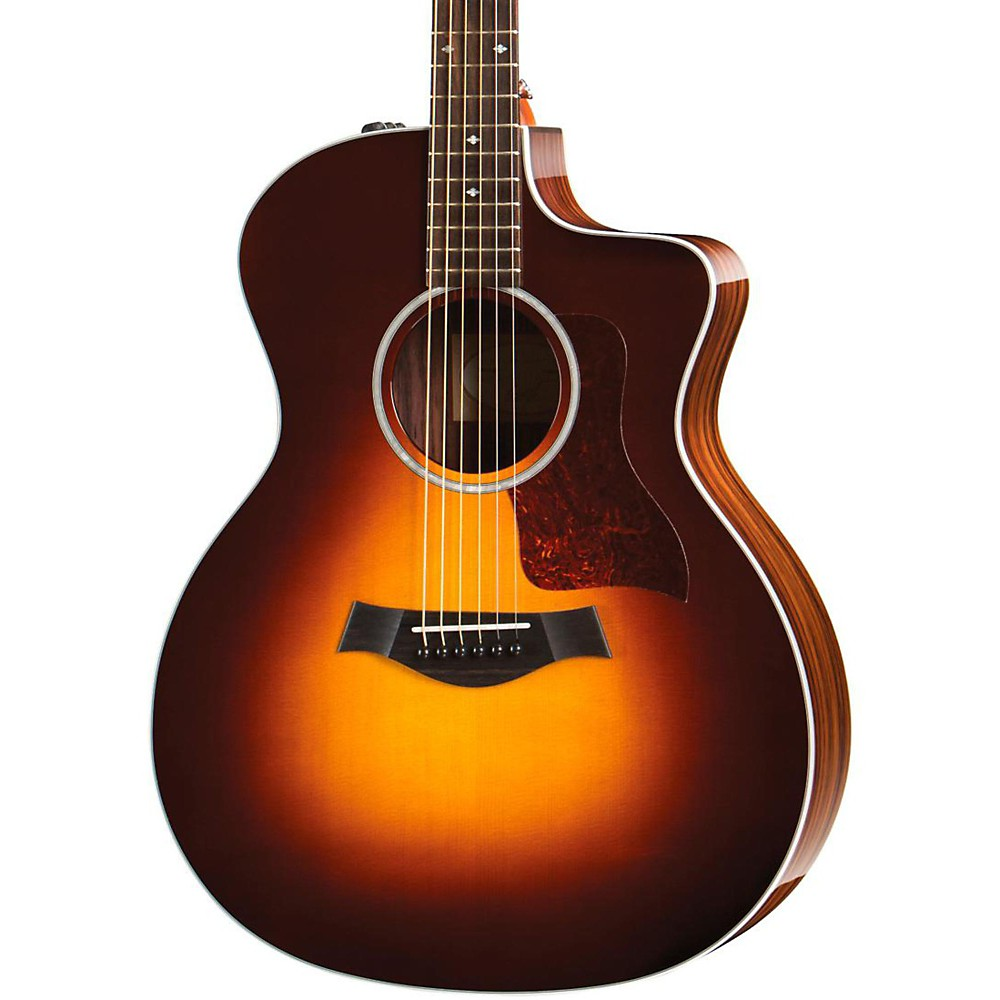 taylor 200 series 214ce dlx grand auditorium acoustic electric guitar sunburst ebay. Black Bedroom Furniture Sets. Home Design Ideas