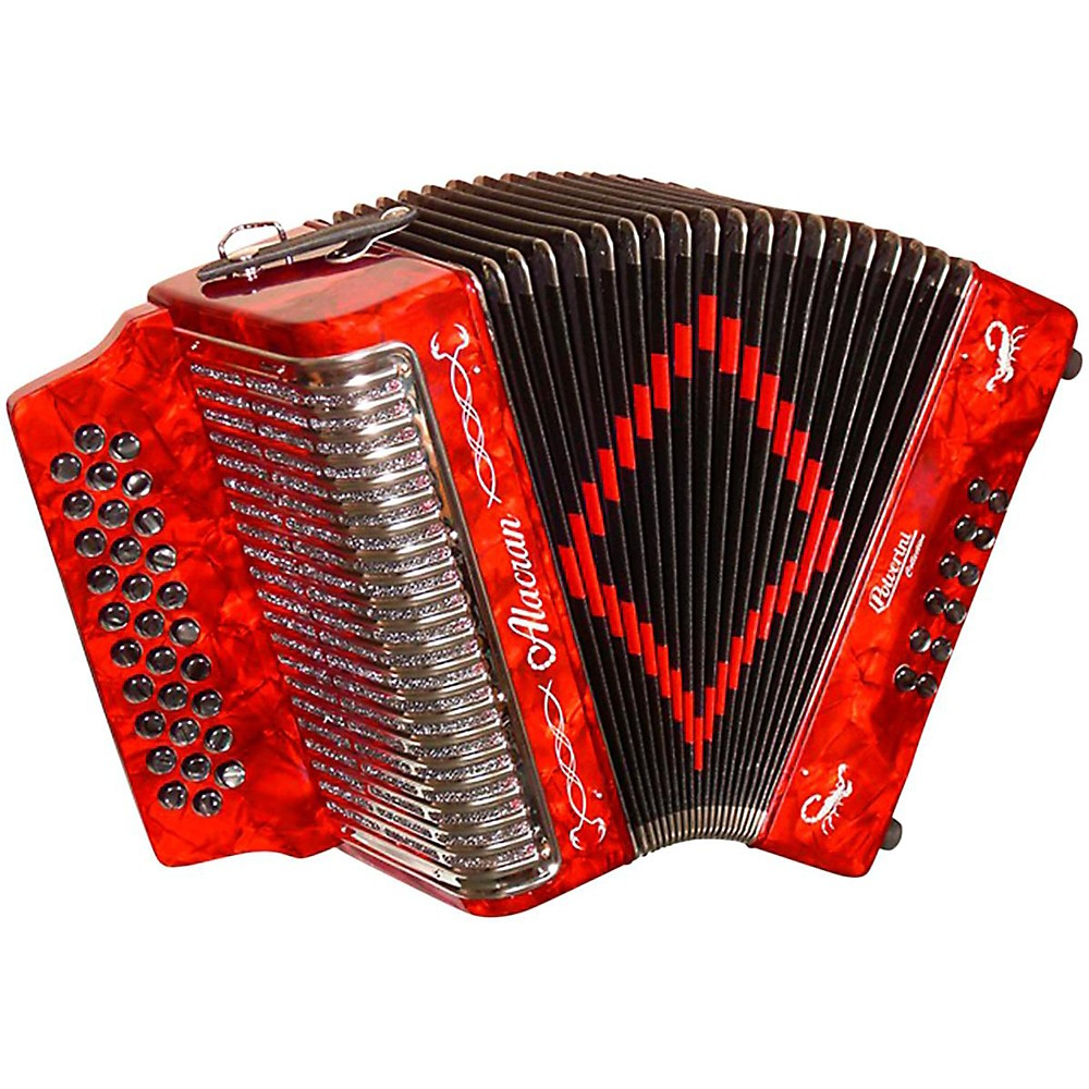 Alacran Accordion Al3112 Red With Case Gcf