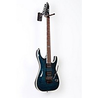 Used Esp Ltd Mh-401Qm Electric Guitar See-Thru Blue 190839044525
