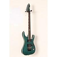 Used Esp Ltd Mh-401Qm Electric Guitar See-Thru Aqua 888365916477