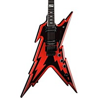Dean Signature Series Dime Razorbolt Electric Guitar Black Red