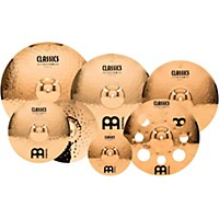 Meinl Classics Custom Double Bonus Pack Cymbal Box Set With Free 10 Splash And Free 16 Trash Crash