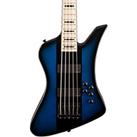 Jackson David Ellefson Signature Kelly Bird V Electric Bass Blue Burst Maple Fingerboard