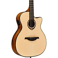 Lag Guitars Tramontane Limited Edition Tse-701Ace Snake Wood Auditorum Cutaway Acoustic-Electric Guitar Natural Snake Wood
