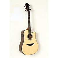 Used Lag Guitars Tramontane Limited Edition Tse701dce Snakewood Dreadnought Cutaway Acoustic-Electric Guitar Natural, Snake Wood 190839051943