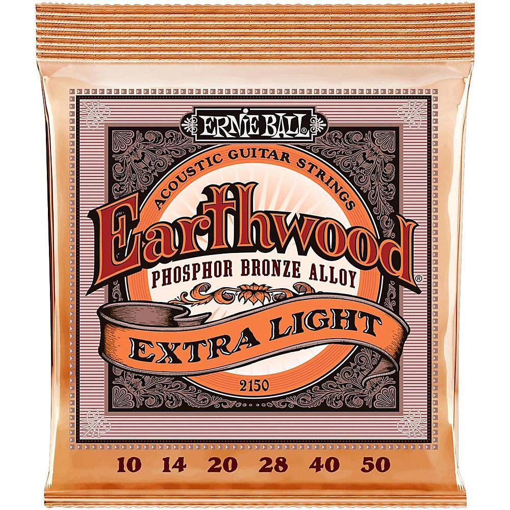 ernie ball 2150 earthwood phosphor bronze extra light acoustic guitar strings ebay. Black Bedroom Furniture Sets. Home Design Ideas