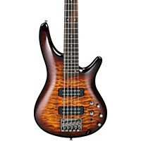 Ibanez Sr405eqm Quilted Maple 5-String Electric Bass Guitar Dragon Eye Burst