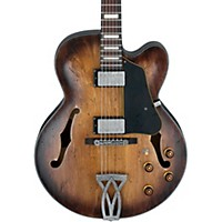 Ibanez Artcore Vintage Series Afv10a Hollowbody Electric Guitar Tobacco Burst Low Gloss