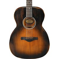 Ibanez Avc6 Artwood Vintage Distressed Grand Concert Acoustic Guitar Tobacco Sunburst