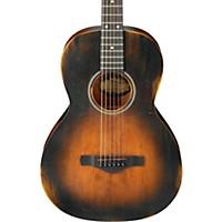 Ibanez Avn6 Artwood Vintage Distressed Parlor Acoustic Guitar Tobacco Sunburst