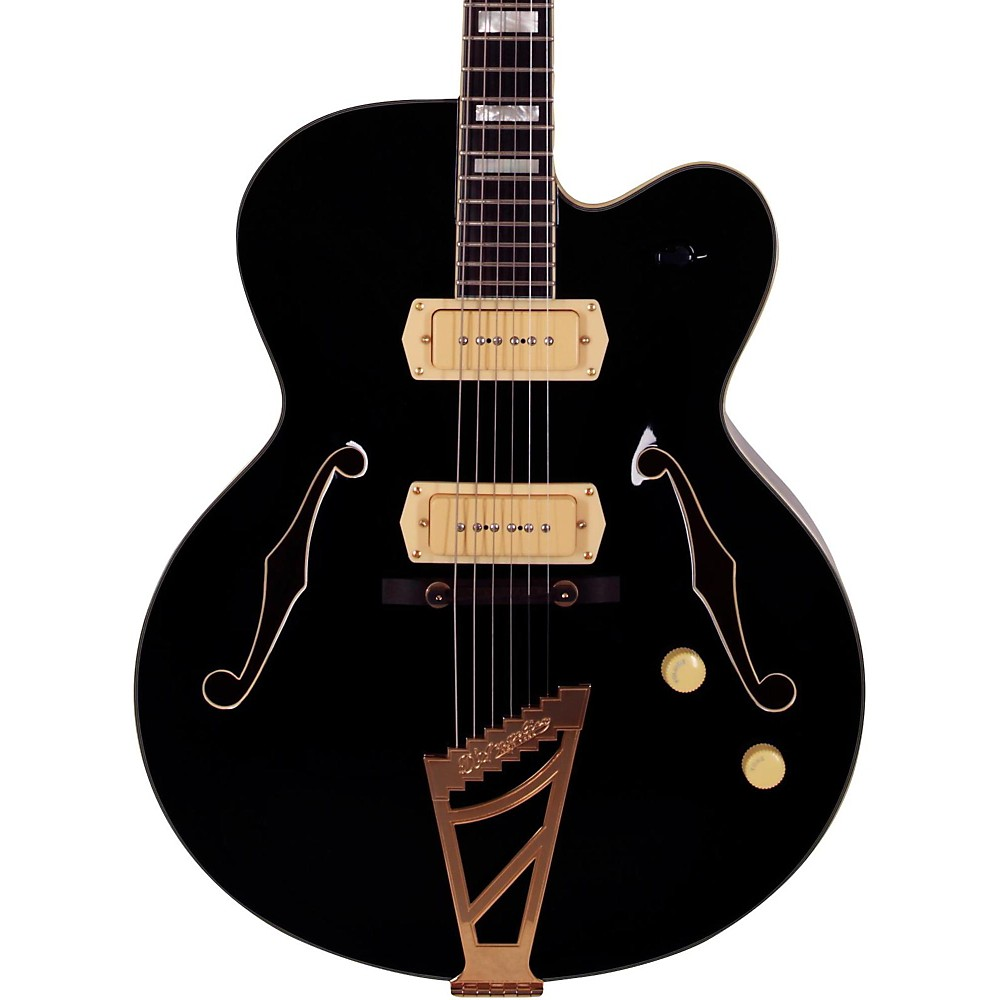 D'angelico Excel Series 59 Hollowbody Electric Guitar With Stairstep Tailpiece Black