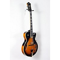 Used Ibanez Gb Series Gb10se George Benson Signature Hollow Body Electric Guitar Brown Sunburst, Tortoise Pickguard 888365916286