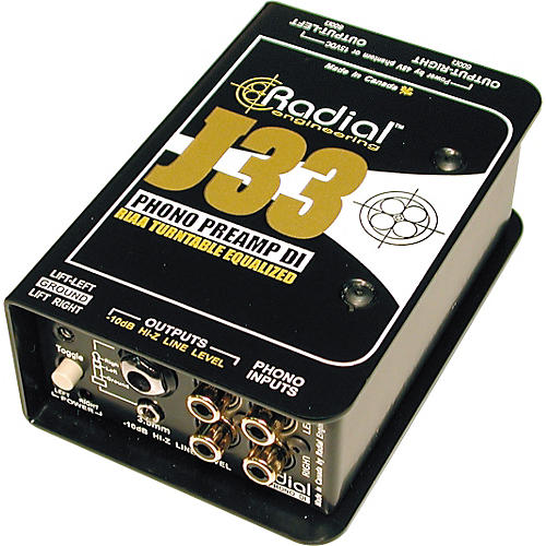 Radial Engineering J33 RIAA Turntable Preamp Direct Box Condition 1 - Mint