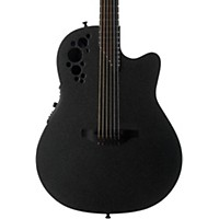 Ovation 1868Tx Elite Spalted Maple Acoustic-Electric Guitar Satin Black