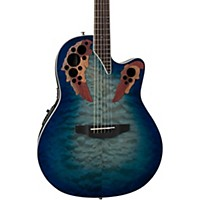 Ovation Ce48p Celebrity Elite Plus Acoustic-Electric Guitar Transparent Regal To Natural