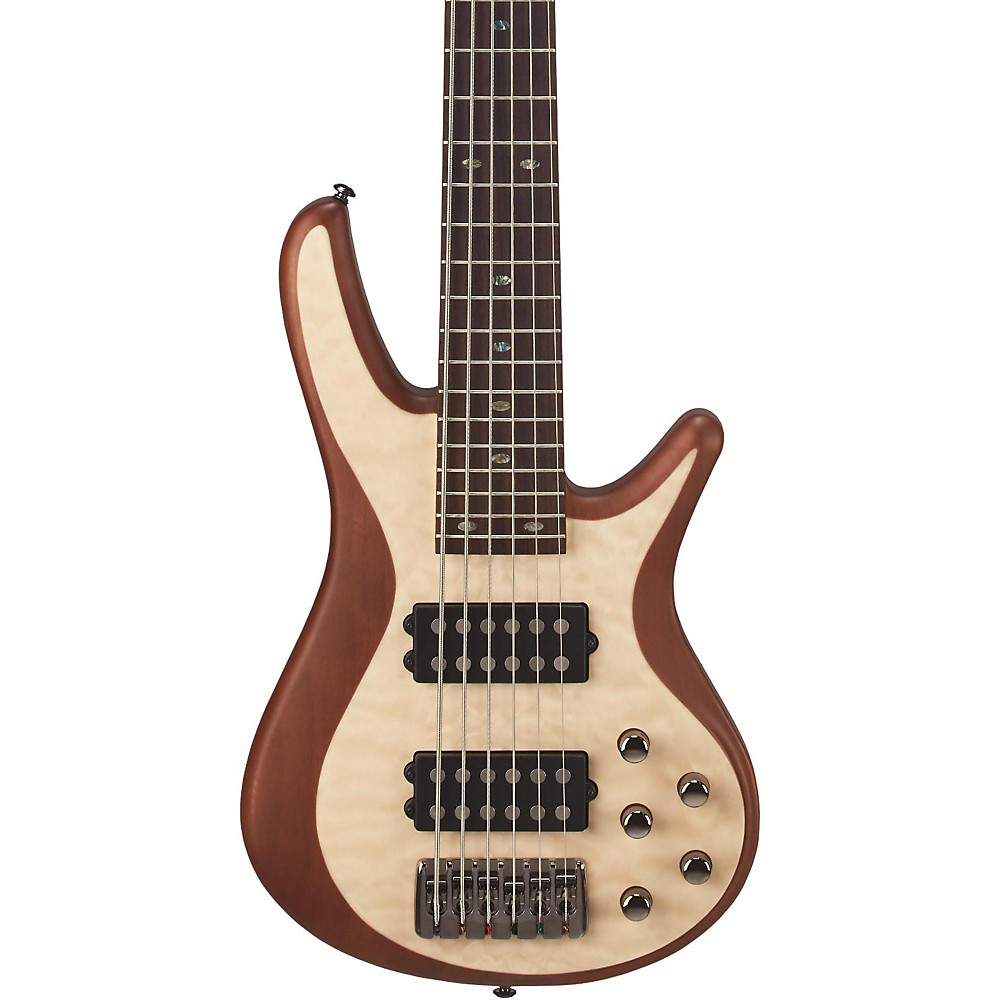 Mitchell Fb706 Fusion Series 6 String Bass Guitar With Active Eq Natural The FB Includes Feature Rich Multi Genre Basses Designed For