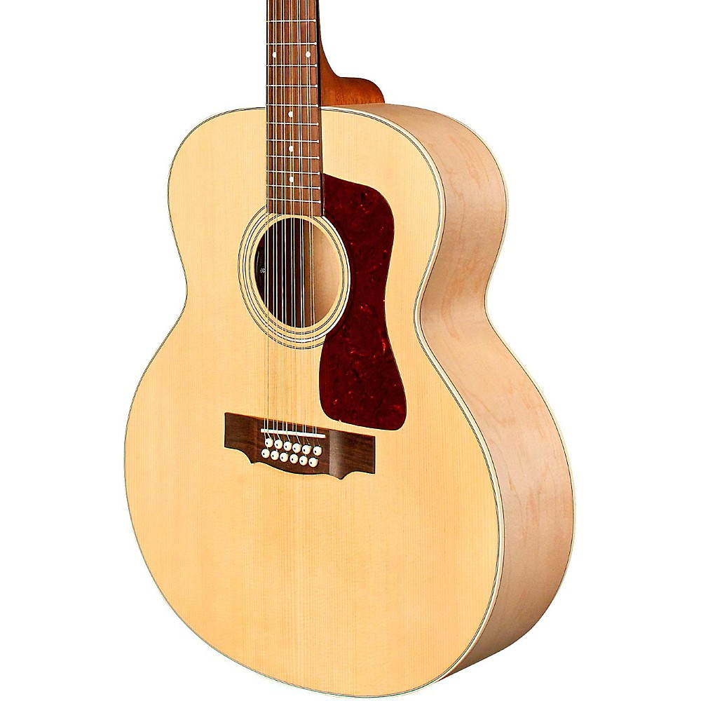 guild f 2512e jumbo acoustic electric guitar natural mc ebay. Black Bedroom Furniture Sets. Home Design Ideas