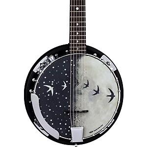Luna Guitars Moonbird Bgb 6-String Acoustic-Electric Banjo Satin Black