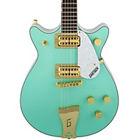Gretsch Guitars Fsr Two-Tone Electromatic Double Jet Electric Guitar Surf Green And White