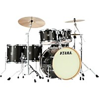 Tama Superstar Classic Premium 6-Piece Shell Pack Black Gold Glitter