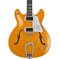 Hagstrom Super Viking Flame Maple Electric Guitar Dandy Dandelion