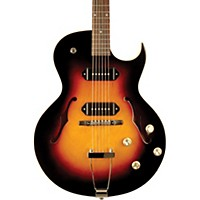 The Loar Lh-302T Thinbody Archtop Cutway P90 Electric Guitar Vintage Sunburst