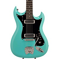 Hagstrom Retroscape Series H-Ii Electric Guitar Aged Sky Blue
