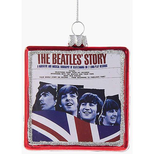 Kurt S. Adler Beatles Glass The Beatles' Story Album Ornament