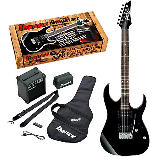 Ibanez Ijrg220z Electric Guitar Package Black