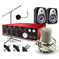 Focusrite 18I8 Recording Bundle With Mxl Mic And Sterling Monitors