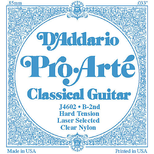 D'Addario J46 B-2 Pro-Arte Clear Hard Single Classical Guitar String