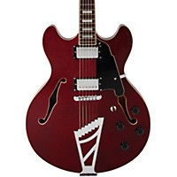 D'angelico Premier Series Dc With Stairstep Tailpiece Hollowbody Electric Guitar Transparent Wine