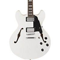 D'angelico Premier Series Dc With Stop Tail Piece Hollowbody Electric Guitar White