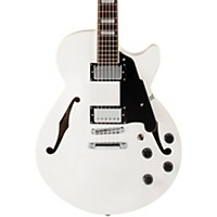 D'angelico Premier Series Ss With Center Block And Stop Tail Piece Hollowbody Electric Guitar White