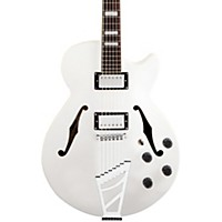 D'angelico Premier Series Ss With Stairstep Tailpiece Hollowbody Electric Guitar White
