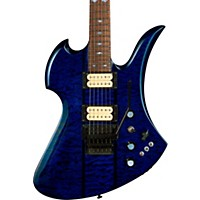 B.C. Rich Mockingbird Neck Through With Floyd Rose Electric Guitar Transparent Cobalt Blue