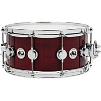 Dw Collector's Series Purple Heart Lacquer Custom Snare Drum W/Chrome Hardware 14 X 6.5 In.