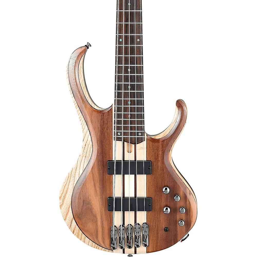 ibanez btb745 5 string electric bass guitar low gloss natural ebay. Black Bedroom Furniture Sets. Home Design Ideas