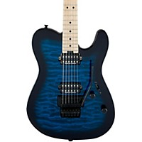 Charvel Pro-Mod San Dimas Style 2 Hh With Floyd Rose, Maple Fingerboard, Quilted Maple Transparent Blue Burst