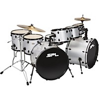 Sound Percussion Labs Unity 8-Piece Double Bass Drum Shell Pack Silver Sparkle