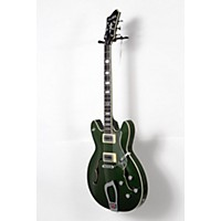 Used Hagstrom Viking Deluxe 2016 Limited Edition Semi-Hollow Electric Guitar Emerald Green Metallic 190839033024